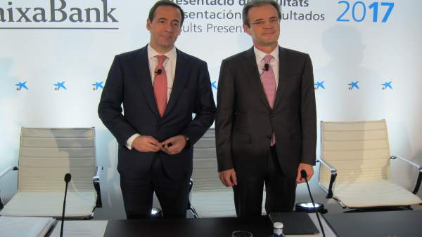 Gonzalo Gortázar y Jordi Gual (CaixaBank)
