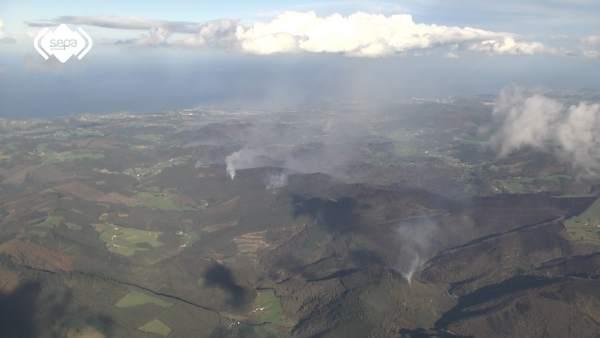 Incendio en Asturias, Boal, El Franco