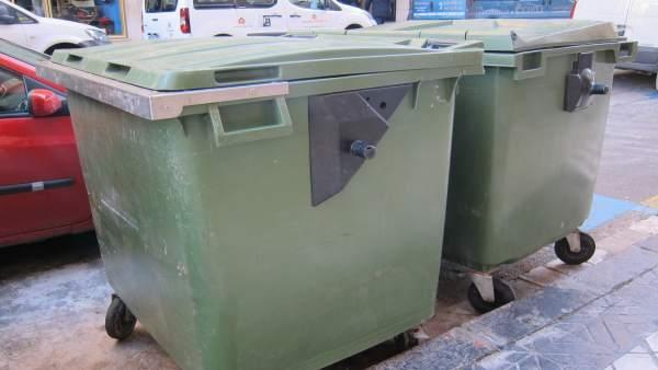 Contenedores de basura en Zaragoza