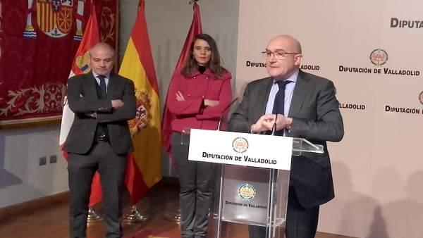 Carnero comparece junto a Caramanzana y De Miguel