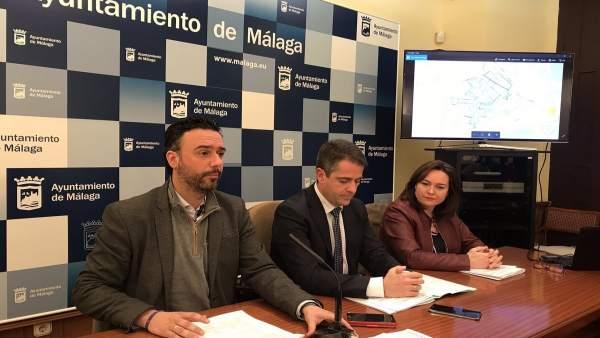 RAul jiménez, Carlos Conde y Martín Rojo en rueda de prensa