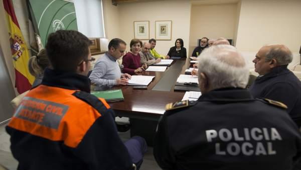 Reunión en la sede de la Junta