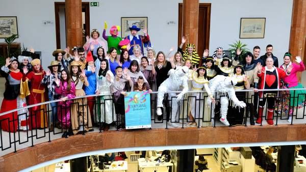 Participantes en el Carnaval de Santander