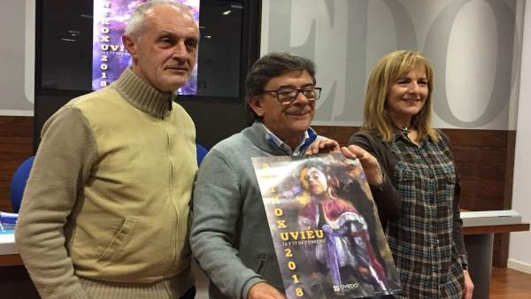 Luis Antonio Suárez, Roberto Sánchez Ramos y Marisa Ponga