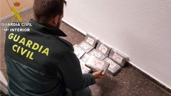 Intervinguts 10 quilos de cocaïna en un vehicle a Sagunt i detingudes dos persones