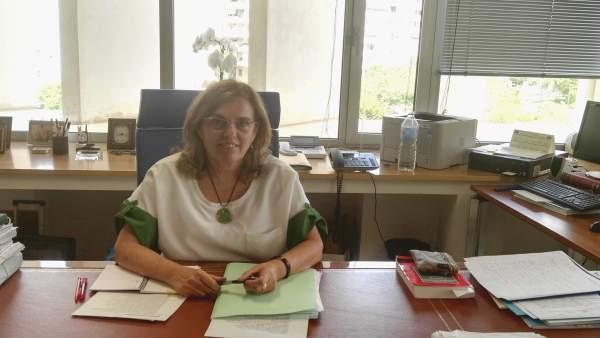 La presidenta de la Audiencia de Málaga, Lourdes García Ortiz. (2017)