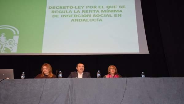 Ruiz Espejo con Gálvez y ana isabel gonzález renta mínima rueda  igualdad