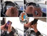 Condenado a seis meses de prisión por conducir con los pies y usando el móvil
