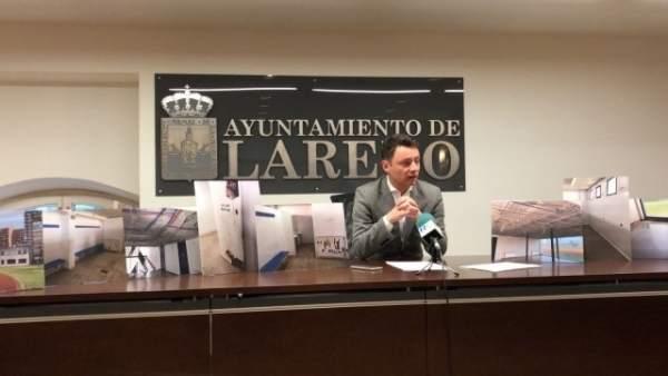 Rueda de prensa del portavoz del PP, Alejandro Liz
