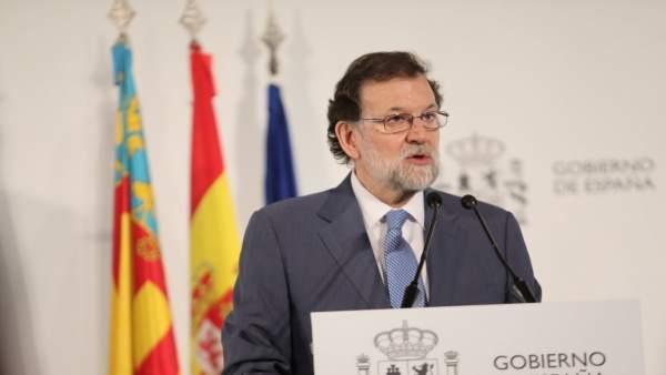 """Rajoy afirma que el Corredor Mediterrani és """"un projecte d'Estat"""" i """"vital"""" per al Govern central"""