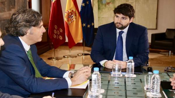 Foto/ El Jefe Del Ejecutivo Se Reúne Con El Presidente D E Anpier