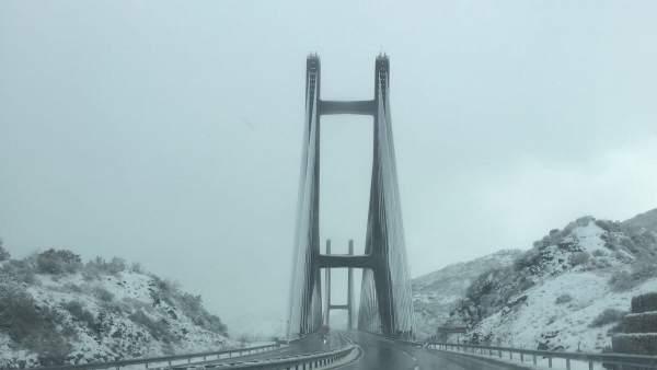 Autopista del Huerna, nieve, temporal, invierno