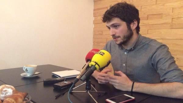 Estañ en un encuentro con la prensa en Alicante
