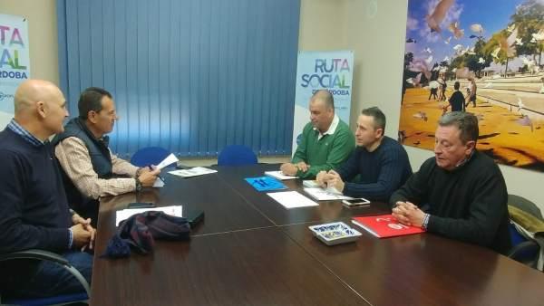 Reunión de los sindicatos Acaip, CCOO y UGT con Rafael Merino