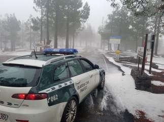 Cumbre nevada de Gran Canaria