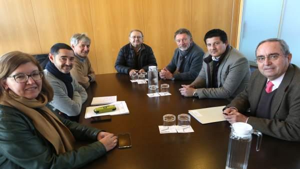 Reunión Diputación Instituto de Estadística y Cartografía de Andalucía
