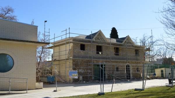 Comienzan las obras en la Huerta de Calasanz de Huesca.