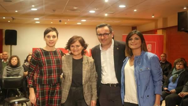 La secretaria de Igualdad de la Ejecutiva Federal del PSOE, Carmen Calvo