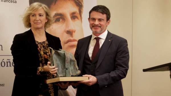 Ana Iribar y Manuel Valls