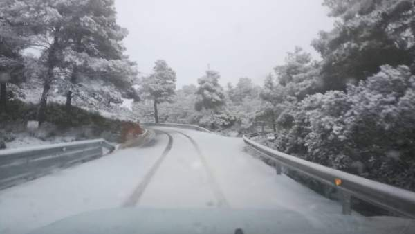 Nevada de este domingo en la comarca de Utiel-Requena