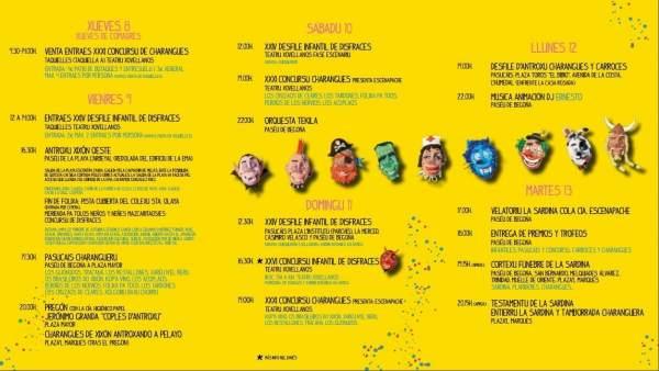 Programa del Antroxu en Gijón 2018