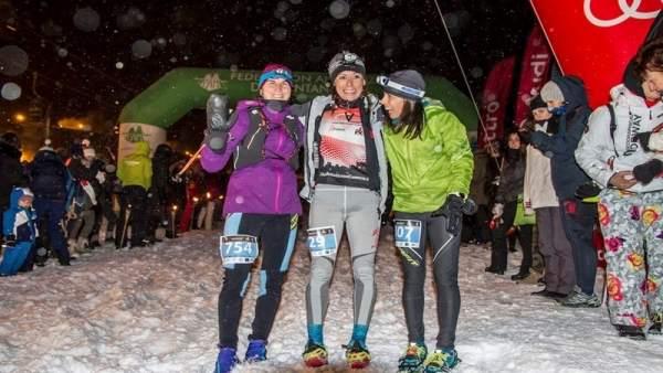 Las ganadoras del Snow Running de Sierra Nevada