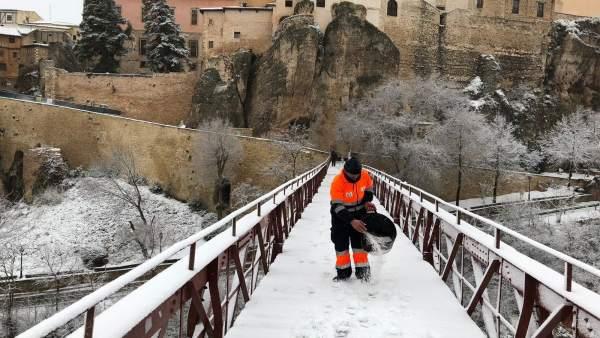 Cuenca con nieve