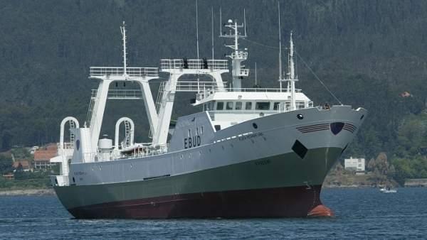 El buque español Playa Pesmar Uno, capturado en Argentina