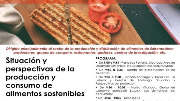 Nota Informativa. La Diputación De Badajoz Celebra Un Ecodesayuno Para El Sector