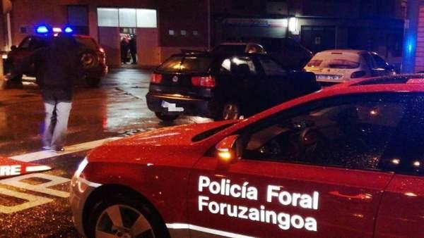Intervención de la Policía Foral en Corella.