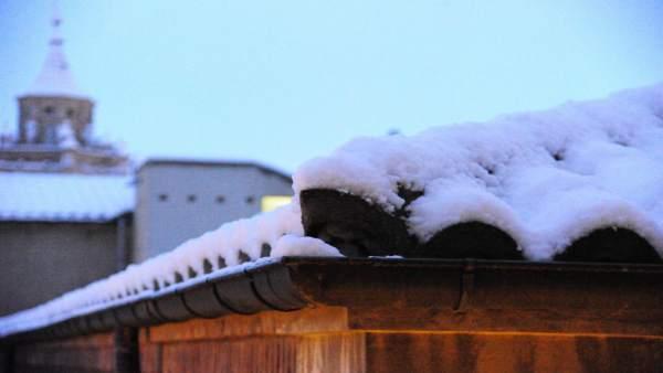 Nieve este lunes en Teruel.