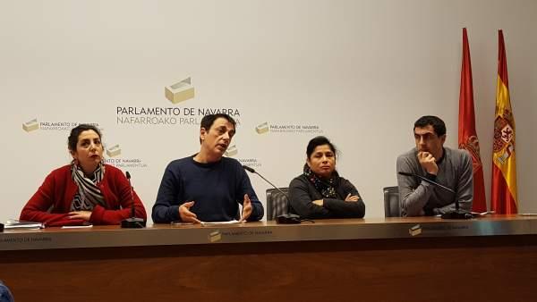 Laura Pérez, Carlos Couso, Fanny Carrillo y Rubén Velasco (Podemos).