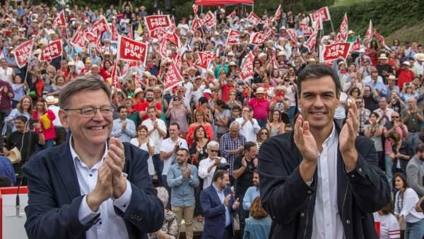 Ximo Puig y Pedro Sánchez