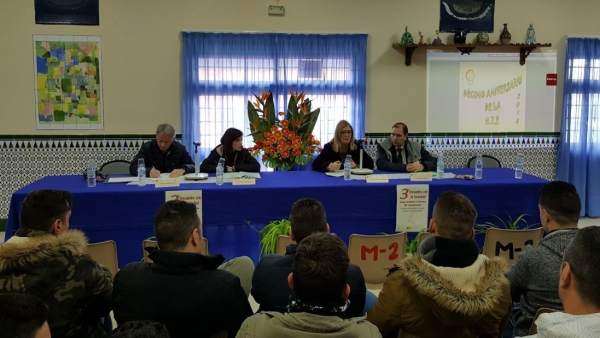 Inauguración del III Encuentro con la Sociedad organizado en la prisión de Jaén.