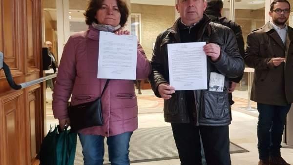 Benigna y Emilio, padres de un joven fallecido en el accidente de Angrois