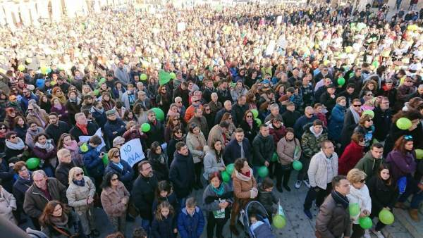 Manifestación contra la mina de Valdeflórez en Cáceres