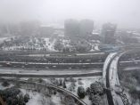 Nieve en la M-30