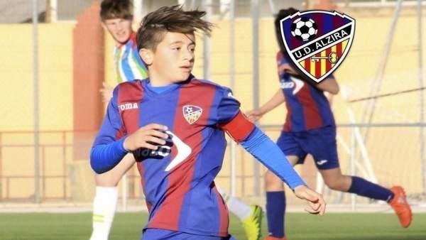 El cadete del UD Alzira fallecido, Nacho Barberà