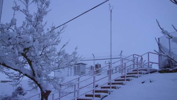 Imagen de ieve en el observatorio de Segovia