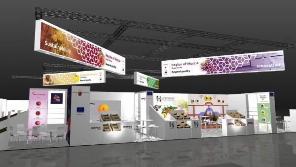 Imagen de lo quer será el stand de Murcia en la feria Fruit Logistica 2018