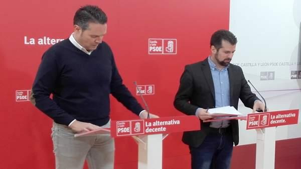 Pedro González y Luis Tudanca comparecen tras la reunión de la Ejecutiva