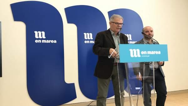 Luís Villares y Manuel Lago, de En Marea