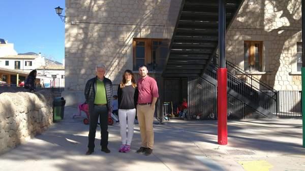 Visita a las obras del CEIP Pere Rosselló de Alaró