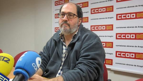 Secretario de Salud Laboral y Medioambiente de CCOO Aragón, Luis Clarimón