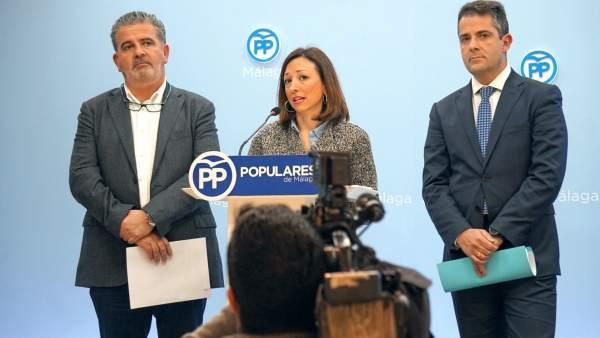 Joaquín Fernández PP Patricia Navarro numero 2 secretaria general y Carlos Conde