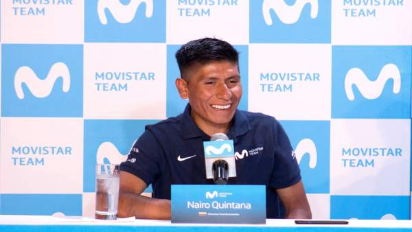 Nairo Quintana (Movistar Team) en rueda de prensa