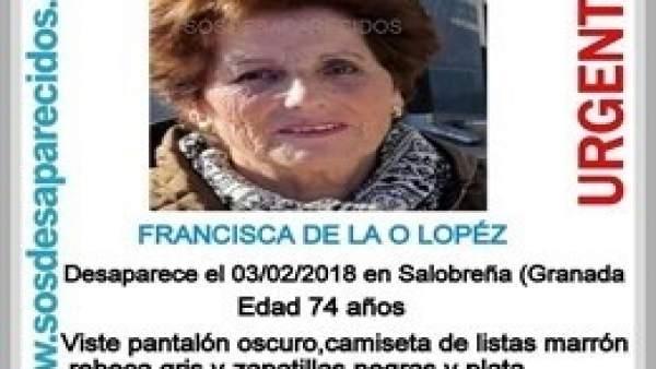 Anciana  hallada muerta tras permanecer dos días desaparecida