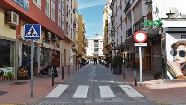 Calle Comercio en Rincón de la Victoria