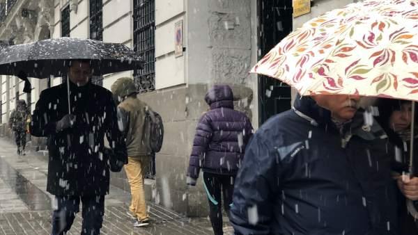 Nieve, nieva en Madrid