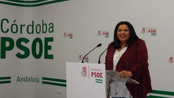 La vicesecretaria general de Política Municipal del PSOE de Córdoba, Dolores Amo